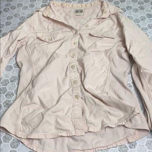 Converse OneStar Medium Pink Long Sleeve Button Up
